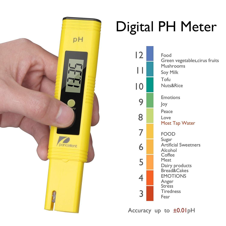 Acuario hidropon/ía Rango de medici/ón Piscina funci/ón de calibraci/ón autom/ática y 0,00-14,00 Gama de medici/ón para Agua port/átil Nynel Medidor de pH Profesional