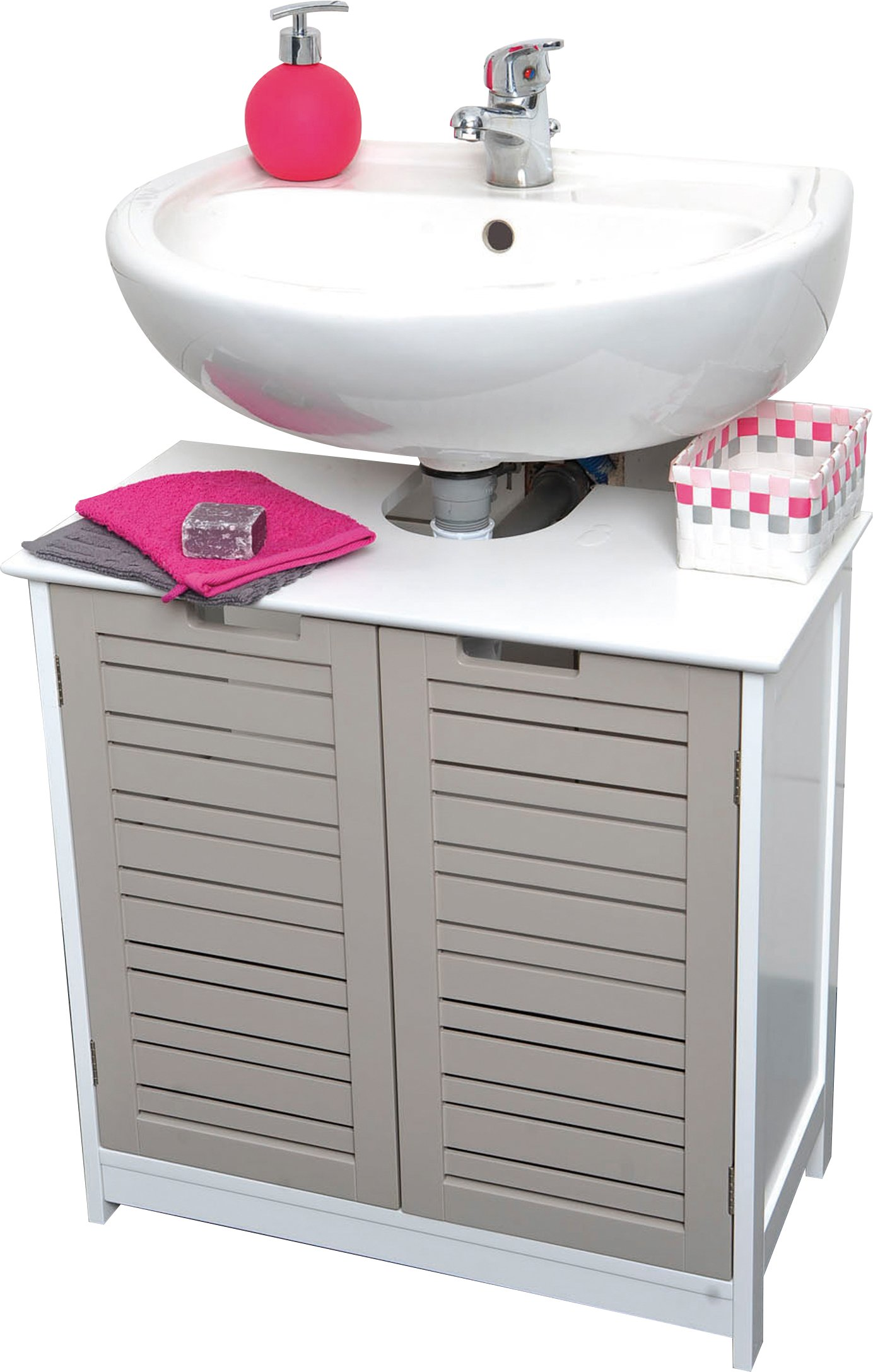 EVIDECO 9900302 Free Standing Non Pedestal Under Sink Vanity Cabinet Bath Storage So Romantic Taupe by EVIDECO (Image #1)