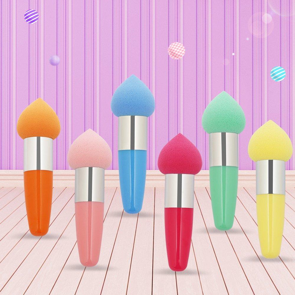 OVERMAL 6pcs Pro Beauty Makeup Foundation Puff Water droplets Shape Éponges Nouveau