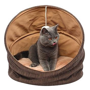 SUOCO Cuddle Cave - Tienda de campaña para Mascotas para Gatos o Perros pequeños, Lavable
