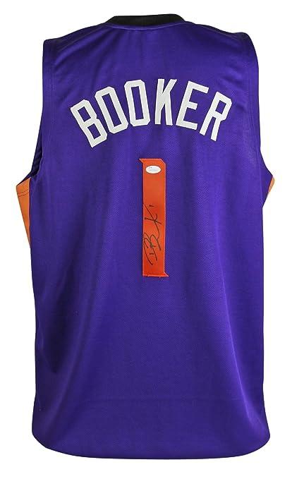 e2ceffb9d37 ... best price suns devin booker signed purple jersey autographed in black  jsa witness d31c6 7e952