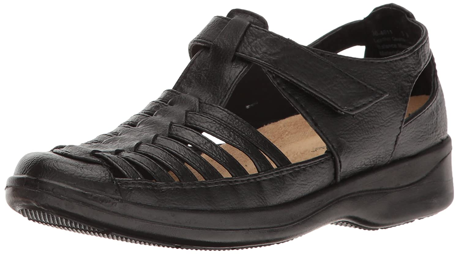 Easy Street Women's Doris Flat B01NAASMHI 6.5 W US|Black Burnish