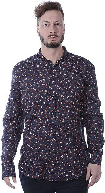 DANIELE ALESSANDRINI - Camisa Hombre C1611B11413700 Camisa BÁSICA Azul COLLUS PEQUEÑO: Amazon.es: Ropa y accesorios