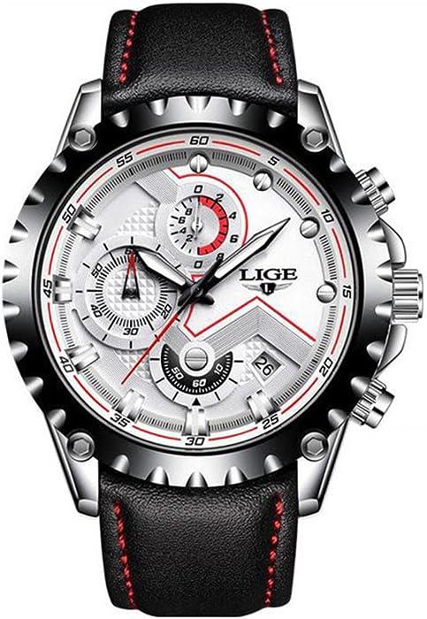 Luzoeo Reloj para Hombre Clásico 314aec3cb145