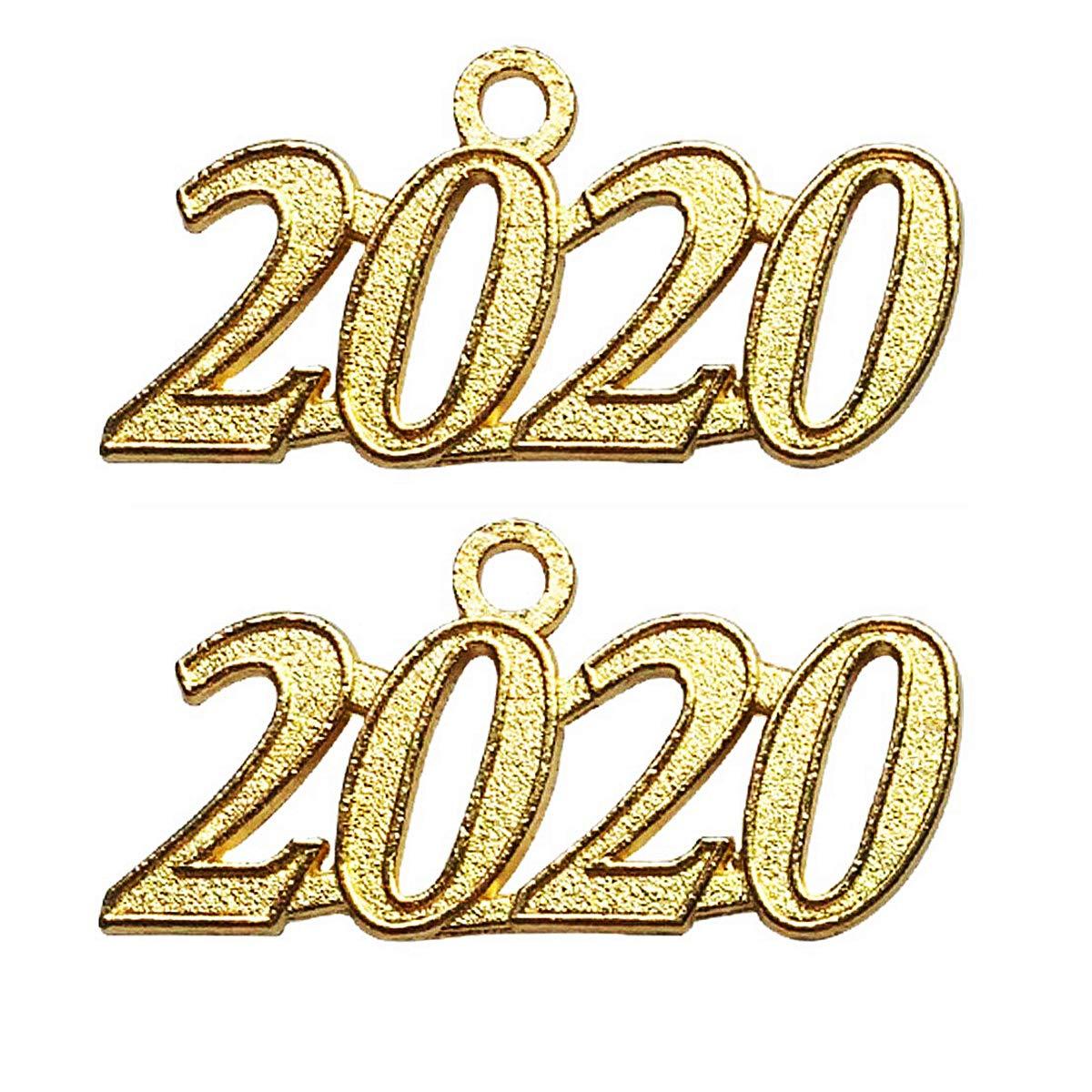 Graduation Tassels 2020.Czorange 2020 Year Signet Gold Color Charm For Graduation Tassel Grad Days 2 Pack