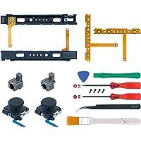 Mcbazel 18 en 1 Kit de reparación de reemplazo para N Switch Joy-Con con la herramienta de apertura de destornilladores…