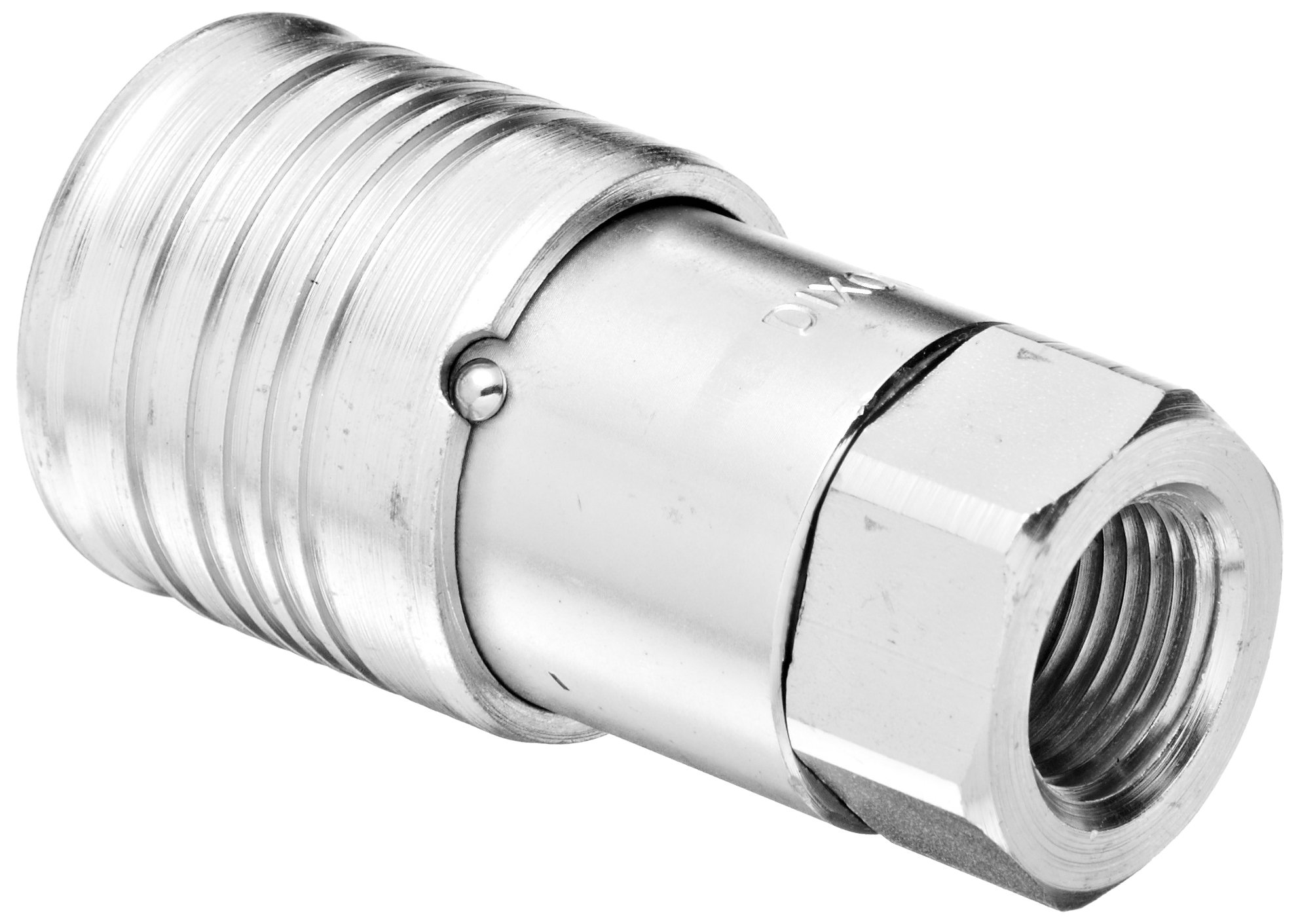 Dixon 4HTF4 Steel Flush Face Hydraulic Quick-Connect Fitting, Coupler, 1/2'' Coupling x 1/2''-14 NPTF
