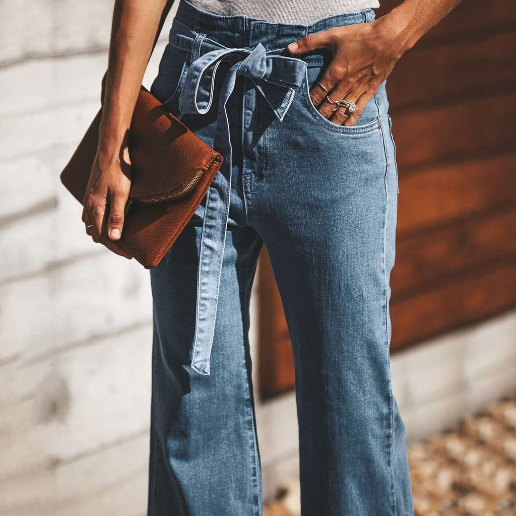 Strumpfhosen & Leggings Damen Lange Jeans Elastic Plus Lose