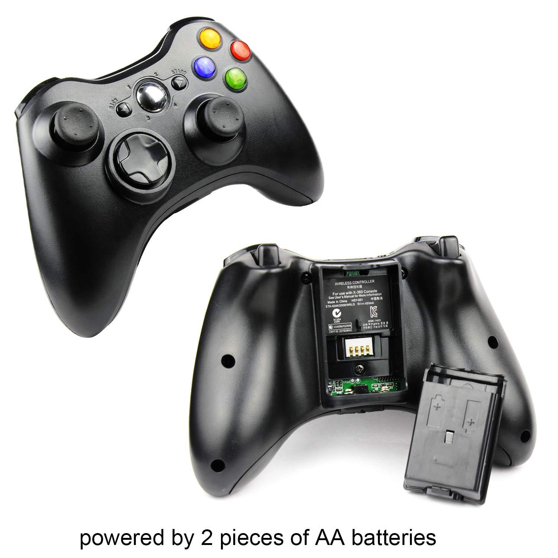 Amazon.com: JAMSWALL Xbox 360 Wireless Controller,2.4GHZ Game Controller  Gamepad Joystick for Xbox & Slim 360 PC Windows 7,8,10(Black): Computers &  ...