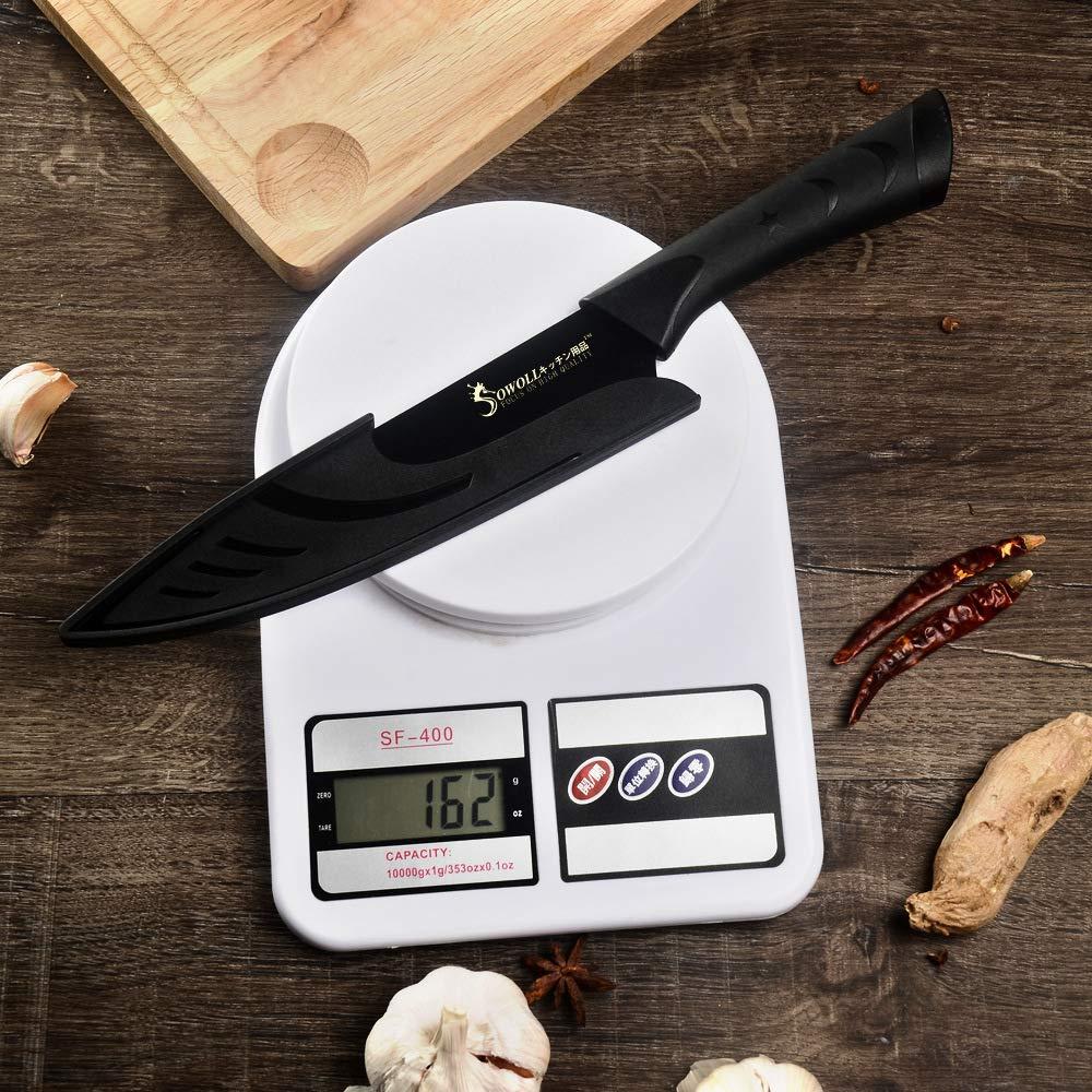 Cuchillos de cocina japoneses 6pcs Mango de patrón de pezuña ...