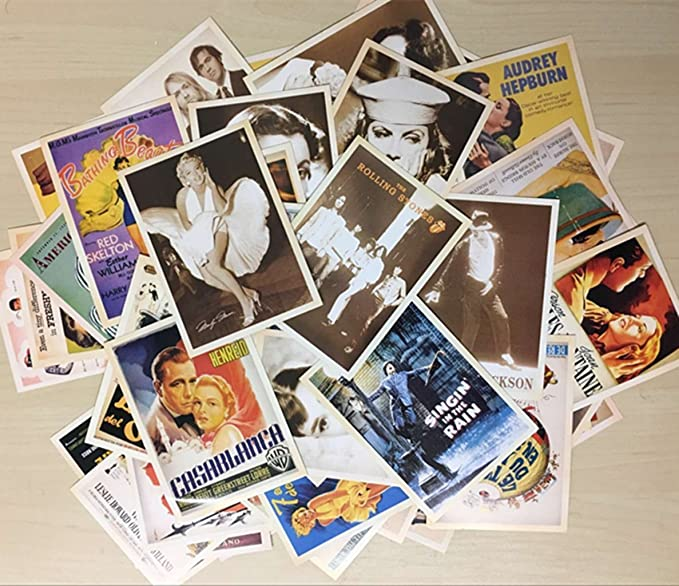 DreamHigh 64pcs Collectable Vintage Postcards Bulk Pack