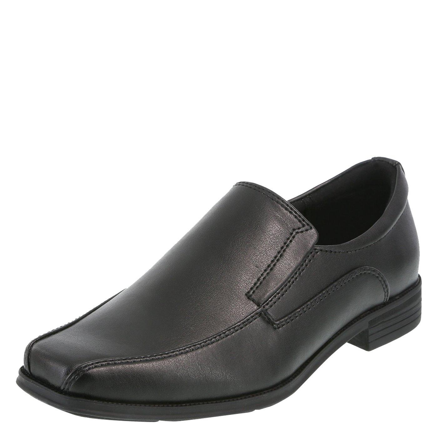 SmartFit Black Boys' Grant Slip-On Dress Shoes 6 Regular