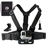 CamKix Chest Mount Harness compatible with Gopro Hero 7, 6, 5, 4, Session, Black, Silver, Hero+ LCD, 3+, 3, 2, 1 - Fully…