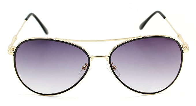 3ccc803d760 HASH PAUL Premium Black Gold Aviator Trendy Mirrored Polarized UV400  Sunglass