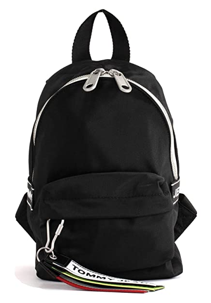 7e440877bc1 TOMMY HILFIGER TJU Logo Tape Micro Backpack Black: Amazon.co.uk ...