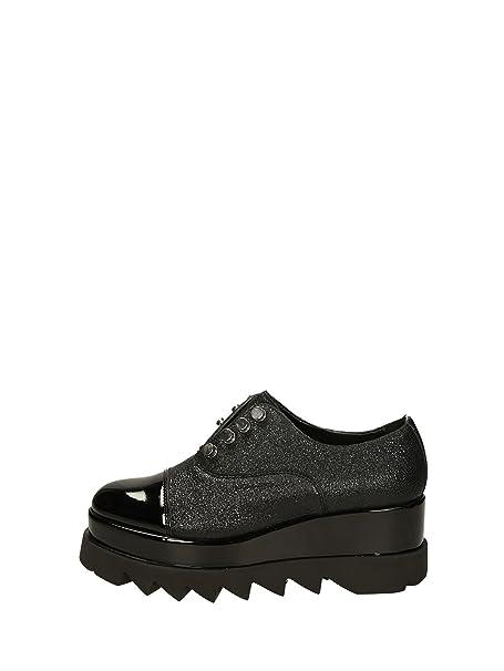 Cult scarpa donna zeppa CLE103222 alice low laminato e vernice nero nr.40   MainApps  Amazon.it  Scarpe e borse 033bfc27845