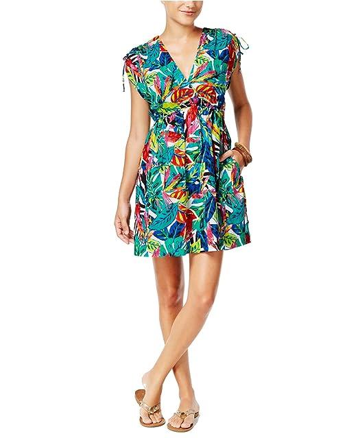 66b6c6c7e8426 Ralph Lauren Lauren Womens Tropical-Print Swim Cover Up Multi XS at Amazon  Women's Clothing store: