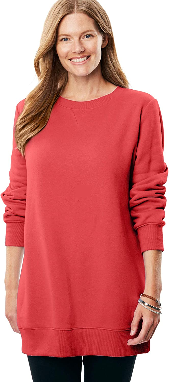 Woman Within Womens Plus Size Fleece Sweatshirt