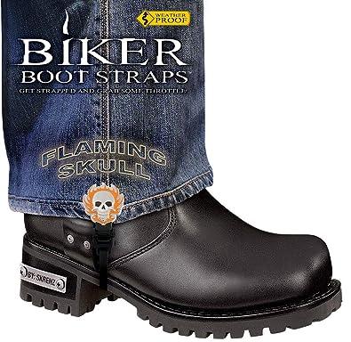 Amazon.com: Correas para botas de calavera de flamación, 6.0 ...