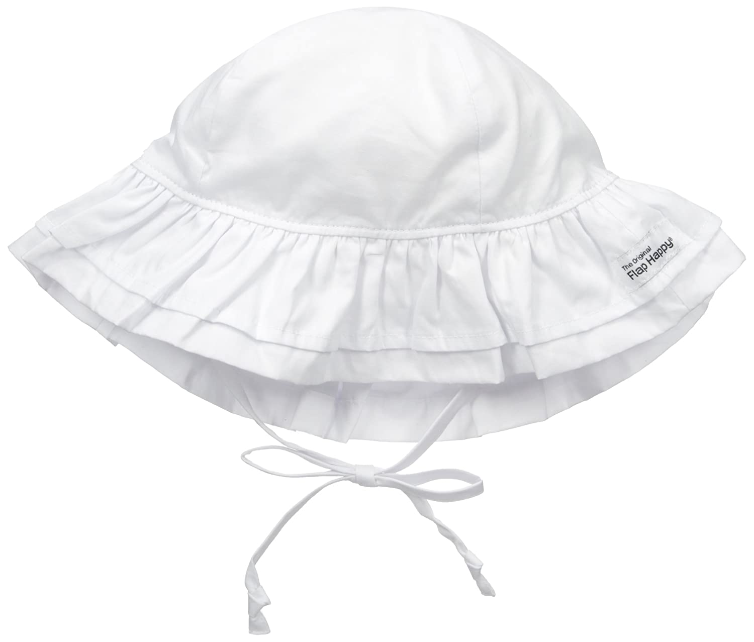 Flap Happy Baby Girls' UPF 50+ Double Ruffle Hat