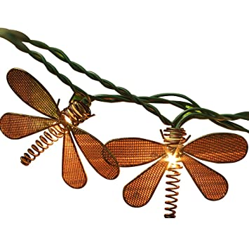 Amazon pansdore christmas lights metal dragonfly string pansdore christmas lights metal dragonfly string lights 10 bulbs for home garden patio party wedding indoor mozeypictures Gallery