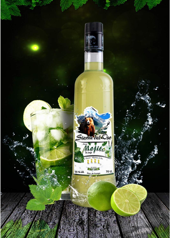 Mojito de Orujo- Sierra del Oso - 3 botellas de 700 ml: Amazon.es: Alimentación y bebidas