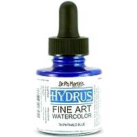 Dr. Ph. Martin's Hydrus Fine Art Watercolor, 1.0 oz, Phthalo Blue (7H)