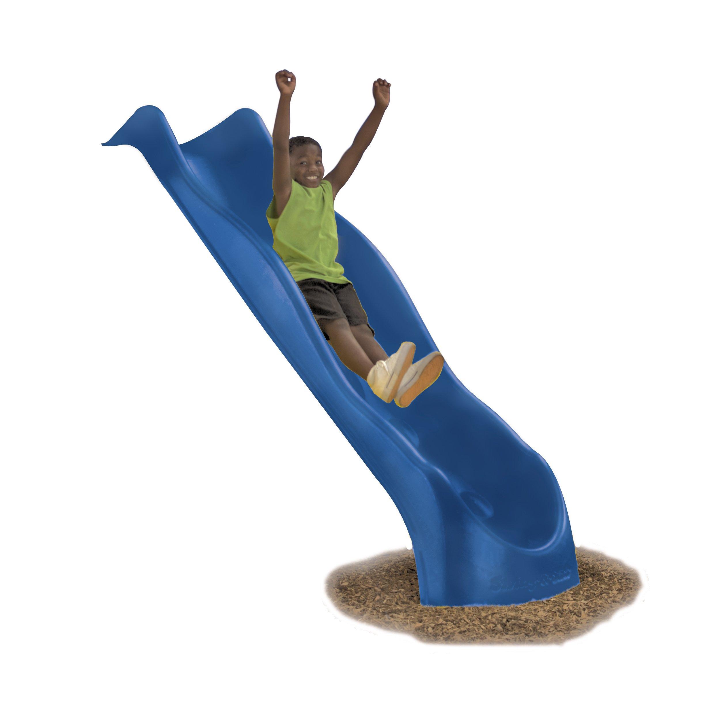 Swing-N-Slide NE 3054 Speedwave Slide Plastic Slide for 4' Decks with, Blue by Swing-N-Slide (Image #1)