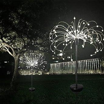 RONSHIN luces LED solares para jardín, 8 modos, luces LED solares ajustables para jardín, patio exterior/patio/pasarela/entrada/césped: Amazon.es: Iluminación