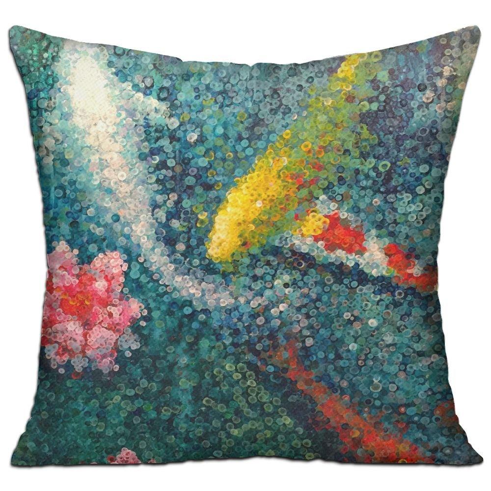Amazon.com: WQBZL Koi Fish Pond Lilly Fashion - Almohada ...