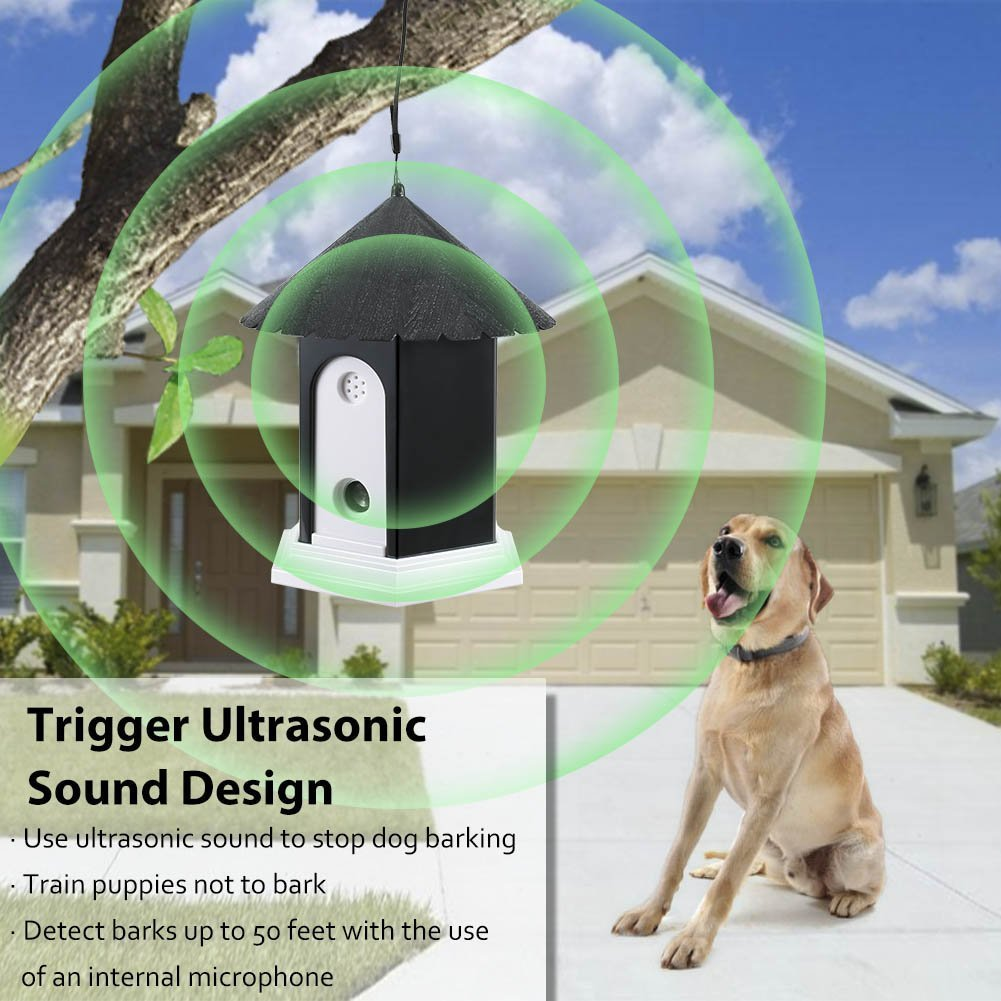 Super Ultrasonic Outdoor Bark Control Device In Dog Repeller Circuit You Can Find One On This Repellent Birdhouse Shape 2018 Newest Generation Black Pet Supplies