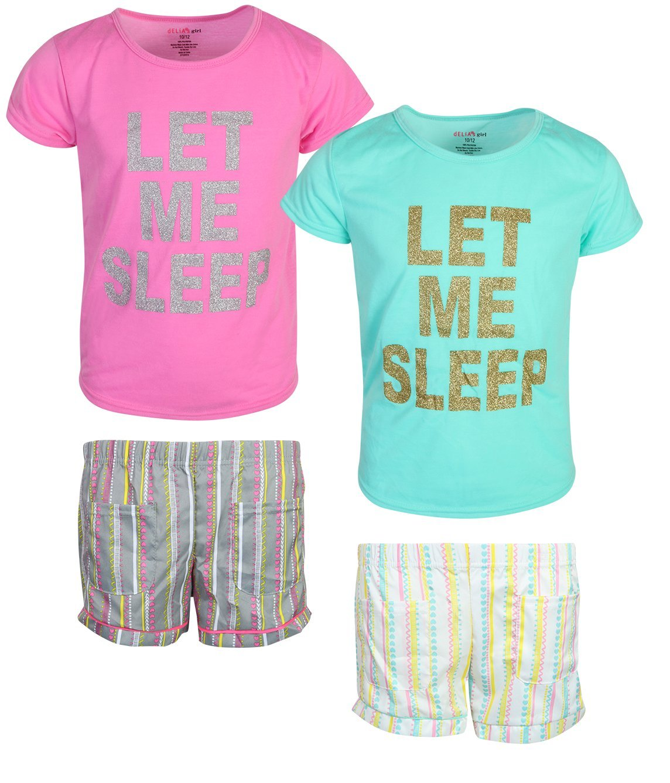 dELiA*s dELiAs Girls Woven/Knit Short Pajama Set (2 Pack), Sleep, Size 10/12'