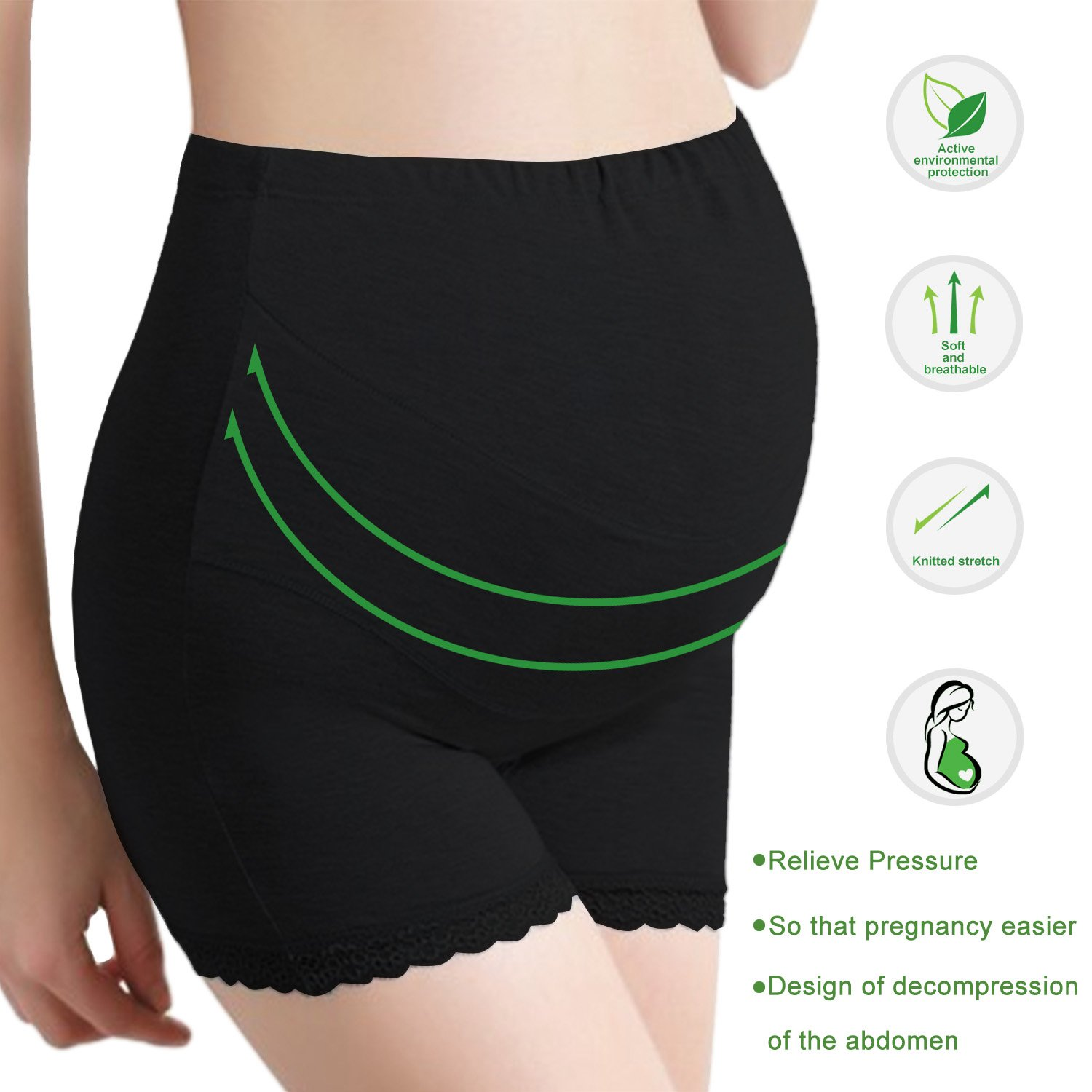 UTOVME Womens Cotton Maternity Underwear High Wasit Panty Shorts Support Brief