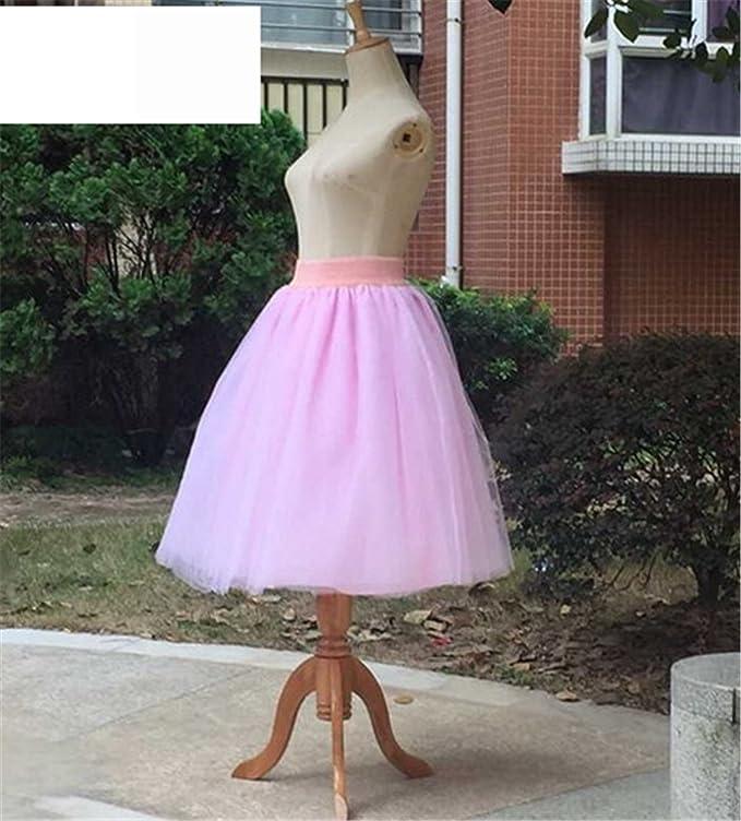4dc3e4d52d35 Eault Elegant New Puff Women Chiffon Tulle Skirt White faldas High waist  Midi Knee Length Chiffon plus size Grunge Jupe Female Tutu Skirts PinkXL at  Amazon ...