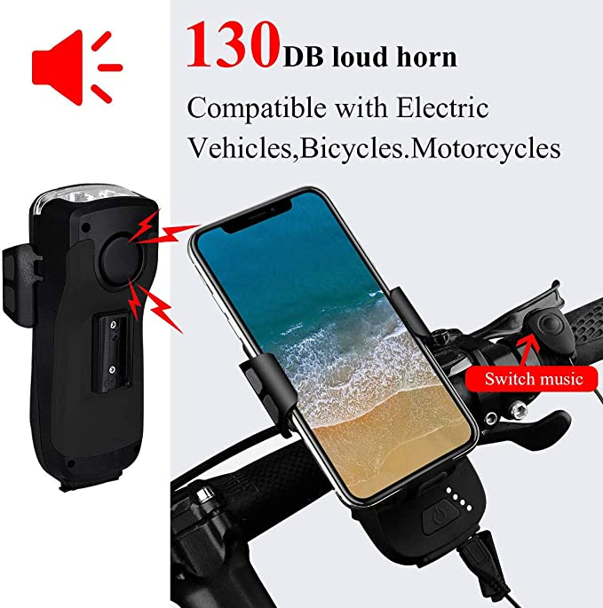 Bicycle Light 4000mA Bicycle Headlight Power Bank Mobile Phone E 01 M 03