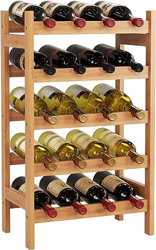 HOMECHO Bamboo Wine Rack