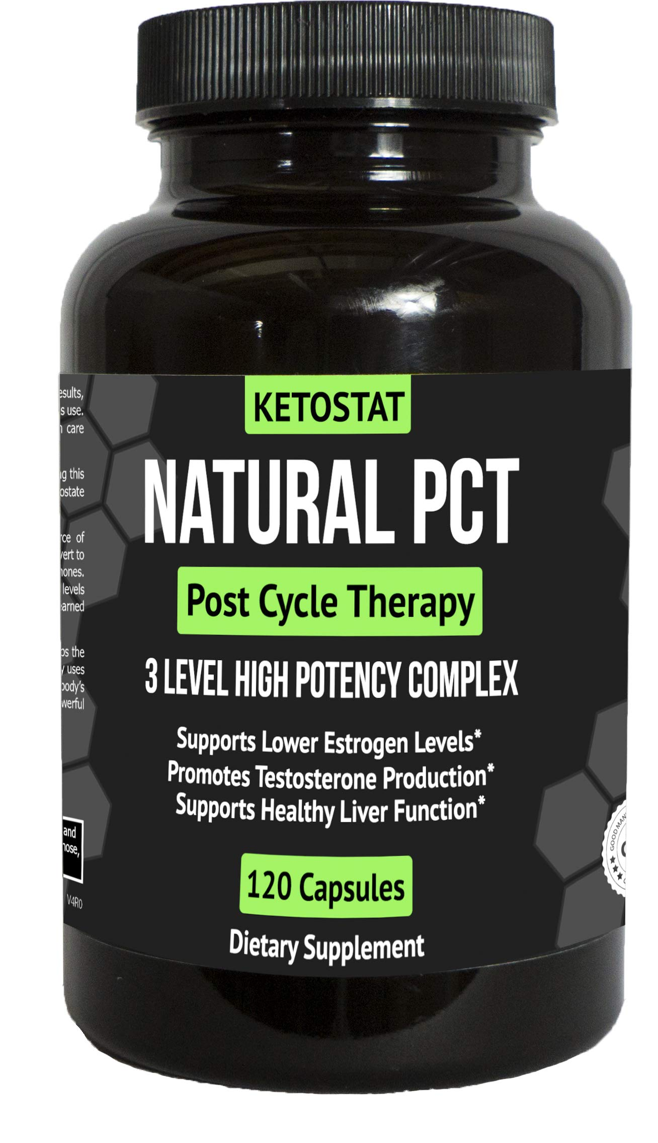 60 Day Clinical Grade Post Cycle Therapy Supplement for PCT Support for Men | Potent 3-in-1 PCT Supplement with Estrogen Blockers, Testosterone Booster, Liver Support and Boosts Libido by Ketostat