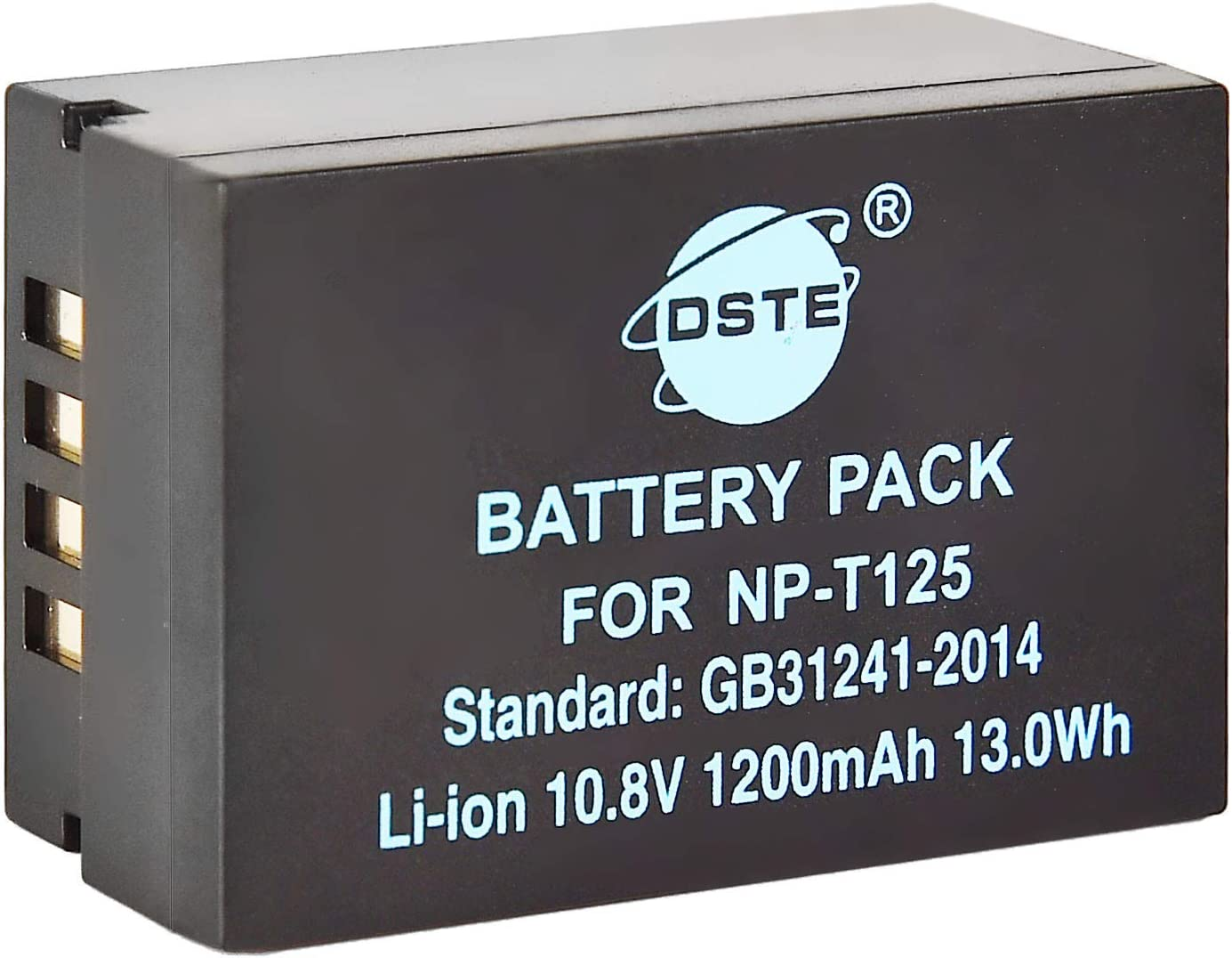 DSTE Replacement for NP-T125 Li-ion Battery Compatible Fujifilm GFX 50R GFX50R GFX 50S GFX50S GFX 100 Camera Compatible Fuji VG-GFX1 Vertical Battery Grip