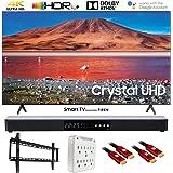 """SAMSUNG UN55TU7000 55"""" 4K Ultra HD Smart LED TV (2020) with Deco Gear Soundbar Bundle"""