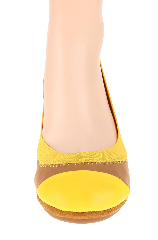 Yosi Samra Women's Samantha Ballet Flat B0759MF42F 6 B(M) US|Sienna / Sunflower
