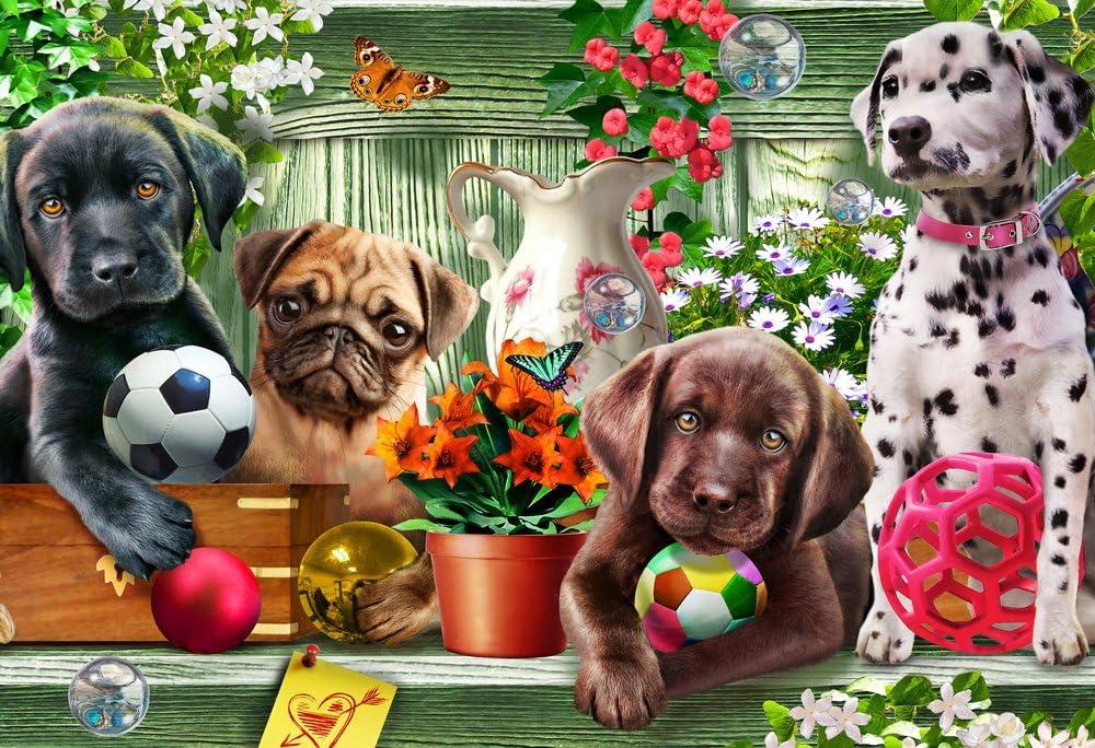 Garden Puppies Kid's Jigsaw Puzzle 100 Piece