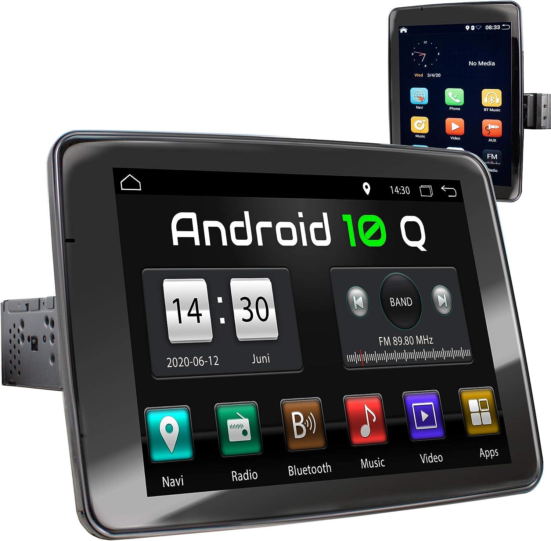 XOMAX XM-VA910R Radio de Coche con Android 10 I Quad Core, 2GB RAM, 32GB ROM I GPS I Soporte WiFi, 3G, 4G, Dab+, OBD2 I Bluetooth I 9
