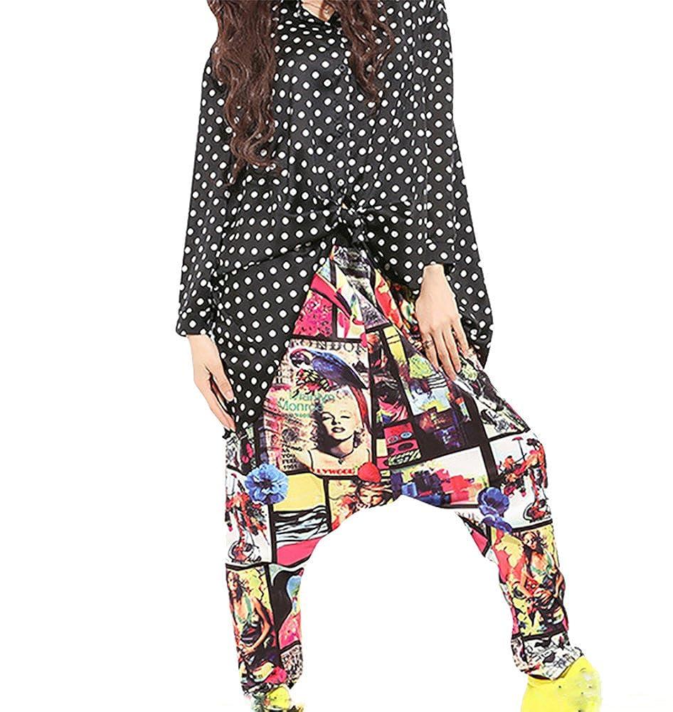 Baymate Colorido Impreso Casual Pantalones Harén Hiphop ...
