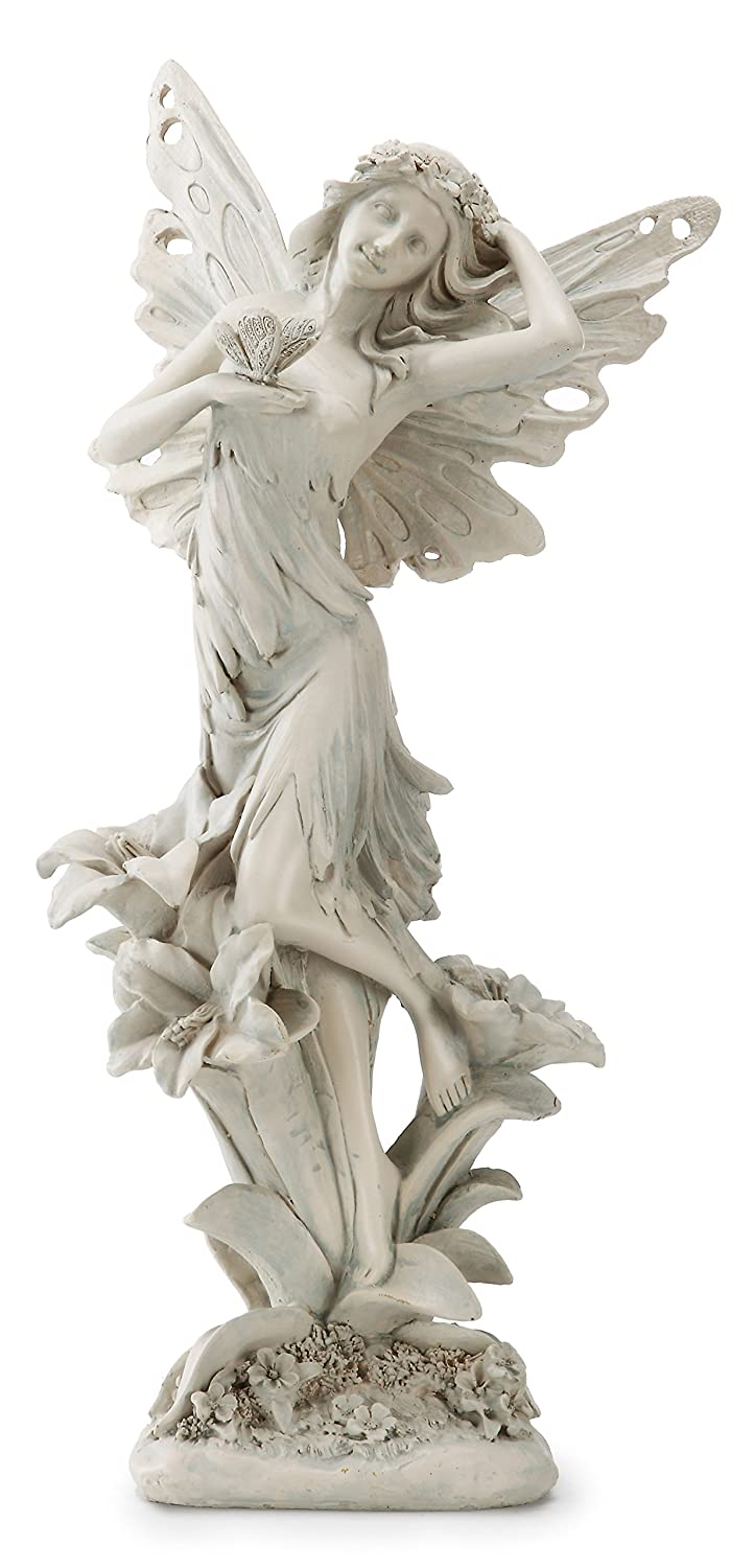 Napco 11204 Fairy with Butterfly Garden Statue, 14.5