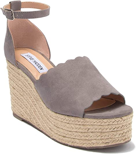 Steve Madden Show Grey Suede Scalloped