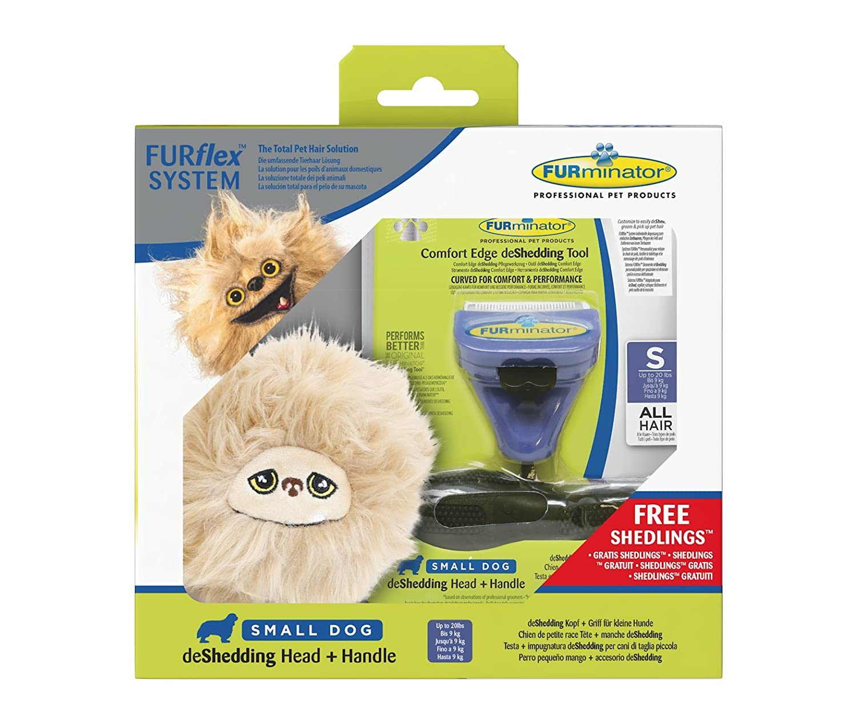Furminator furflex, Cura del Pelo Spazzola per Cani di Piccola Taglia, Deshedding Tool per la rimozione della Lana sotto, Taglia S