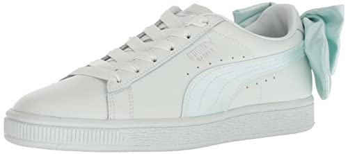 PUMA Womens Basket Bow Wn Sneaker, Blue Flower, ...
