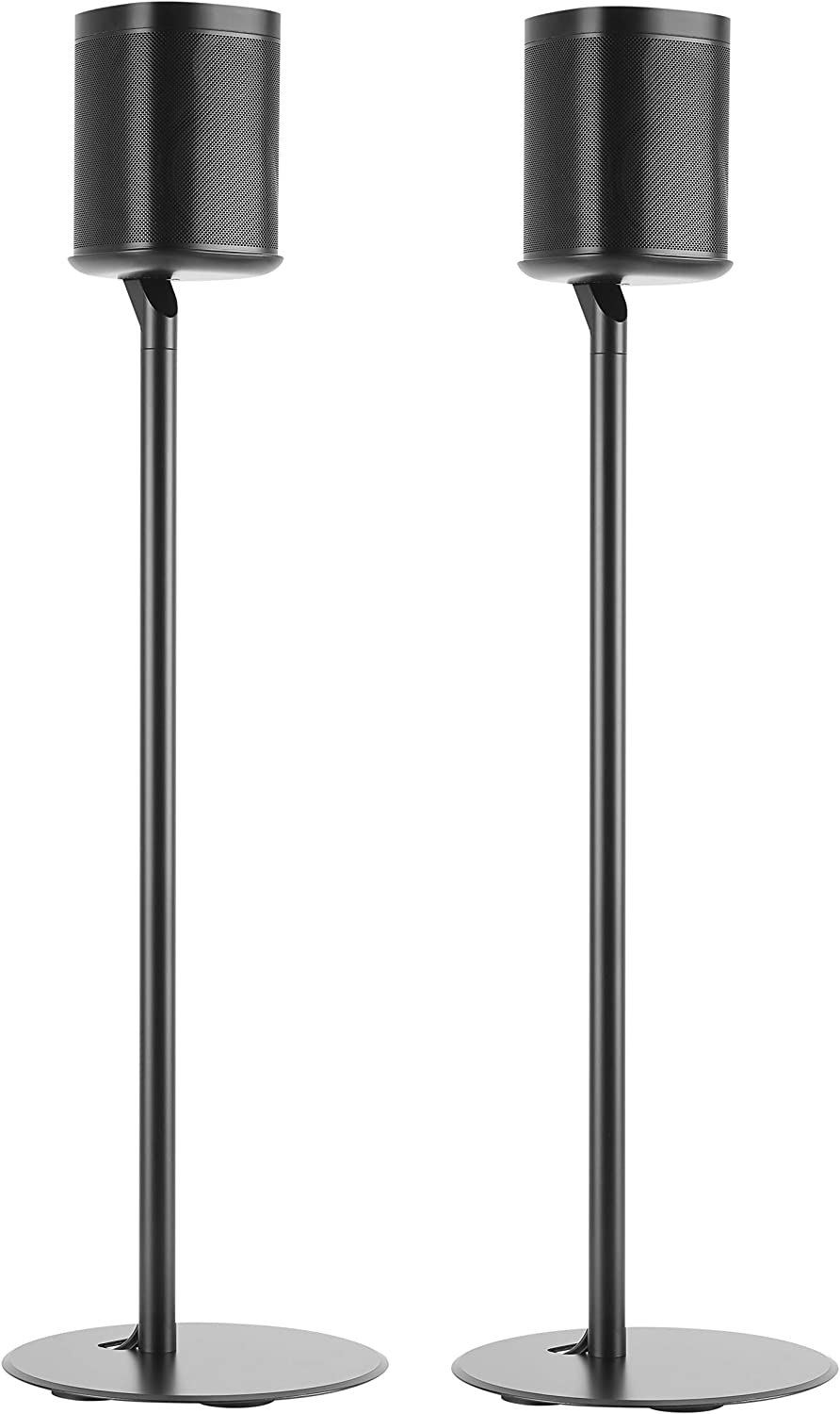 ynVISION Floor Stand for Sonos One, One SL and Play 1 Speaker 2 Pack YN-ONE Pair Black