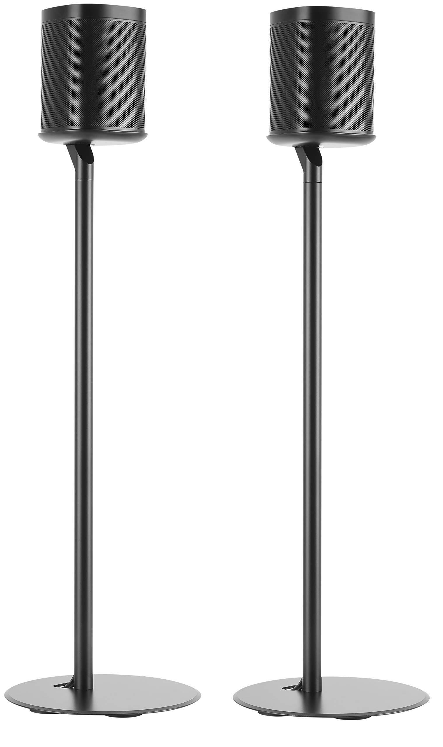 ynVISION Floor Stand for Sonos One, One SL and Play:1 Speaker | 2 Pack | YN-ONE Pair (Black) by ynVISION