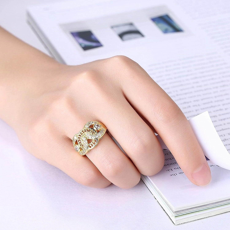 Amazon.com: Daesar Jewelry Women\'s Gold Plated Cubic Zirconia Ring ...